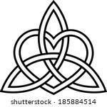 triquetra heart   paganism  ...   Shutterstock .eps vector #185884514