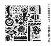 ethnic handmade ornament for... | Shutterstock .eps vector #1858856644