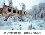 An Old Ruined Building In A...