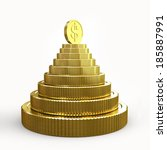 Pyramid Of Golden Coins...