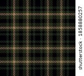 Brown And Dark Green Tartan...