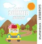 summer vacation background   Shutterstock .eps vector #185889095