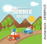 summer vacation background | Shutterstock .eps vector #185889125