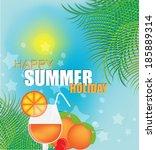 tropical summer holidays... | Shutterstock .eps vector #185889314