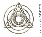 triple triquetra   trinity...   Shutterstock . vector #185889899