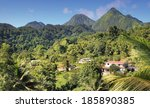 green landscape from the island ... | Shutterstock . vector #185890385