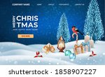 merry christmas and happy new... | Shutterstock .eps vector #1858907227