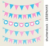 cute bunting set pink and blue