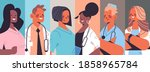 set mix race doctors avatars... | Shutterstock .eps vector #1858965784