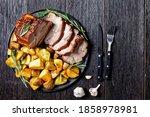 Sliced Roasted Pork Loin Served ...