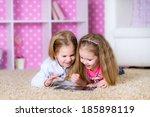 children using a tablet... | Shutterstock . vector #185898119