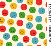 colorful emotions seamless... | Shutterstock .eps vector #1858987021