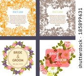 wedding invitation cards with... | Shutterstock .eps vector #185899631