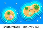 abstract nature paper cut water ... | Shutterstock .eps vector #1858997461