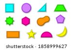 set abstract collection paper... | Shutterstock .eps vector #1858999627