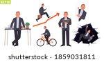 businessman character set. man...   Shutterstock .eps vector #1859031811