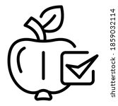 eco apple for pie icon. outline ... | Shutterstock .eps vector #1859032114