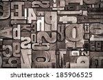 background of antique wooden... | Shutterstock . vector #185906525