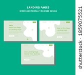 landing page wireframe template ...