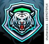 white tiger mascot. esport logo ... | Shutterstock .eps vector #1859075914