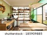 comfortable kitchen  interior... | Shutterstock . vector #185909885