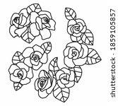 roses flower cartoon vector... | Shutterstock .eps vector #1859105857