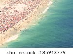 Aerial Summer View Of Crowded...