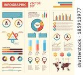 infographics set elements. flat ...   Shutterstock .eps vector #185913977