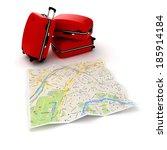 3d travel and navigation...   Shutterstock . vector #185914184