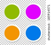 colorful vector empty circle... | Shutterstock .eps vector #185914571