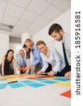 business colleagues... | Shutterstock . vector #185916581
