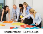 business team discussing...   Shutterstock . vector #185916635