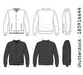 blank men's bomber jacket with... | Shutterstock .eps vector #185916644