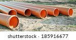 Orange Plastic Pipes For...