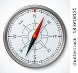 compass on a white background.... | Shutterstock .eps vector #185918135