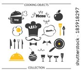 cooking objects collection | Shutterstock .eps vector #185918297