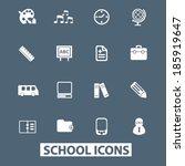 school icons set. vector   Shutterstock .eps vector #185919647