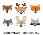 set of isolated baby animals...   Shutterstock .eps vector #1859208457