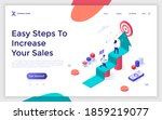 landing page template with... | Shutterstock .eps vector #1859219077