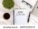 2021 To Do List Text On Note...