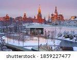 Sunrise View Of Moscow Kremlin  ...