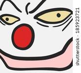 face clown | Shutterstock .eps vector #185923721