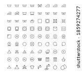 set of washing icons isolated...