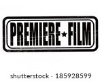 stamp with text premiere film... | Shutterstock .eps vector #185928599