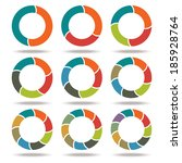 set icons circle arrows.... | Shutterstock . vector #185928764