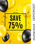 save 75  off. balloon celebrate ...   Shutterstock .eps vector #1859290207