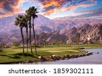 Golf Course At Sunset  In Palm...