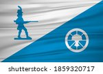 Flag of Hagerstown, Maryland, USA. Realistic waving flag of Hagerstown vector background.