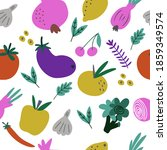 seamless pattern with hand...   Shutterstock .eps vector #1859349574