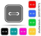 square dress button multi color ...